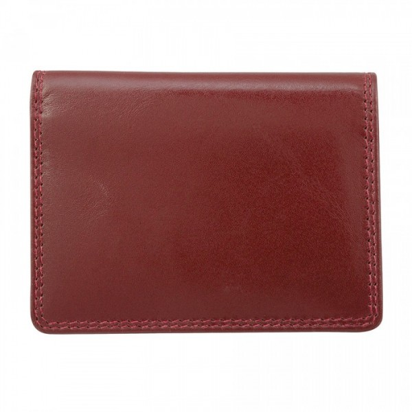 Leather Card Case by Bugatti - Two Card Slots - Mahogany
