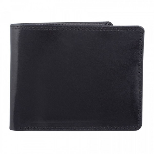 Men's Leather Wallet by Bugatti - 9 Card Slots - Black