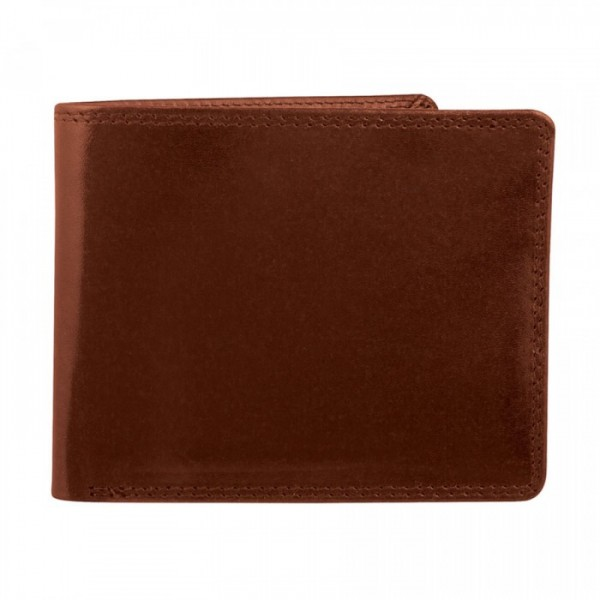 Men's Leather Wallet by Bugatti - 9 Card Slots - Mahogany