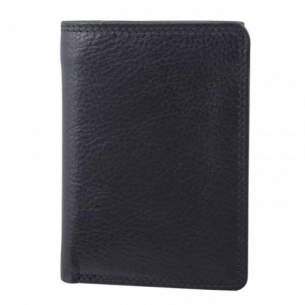 Men's Leather Tri-Fold Wallet by Bugatti - Black