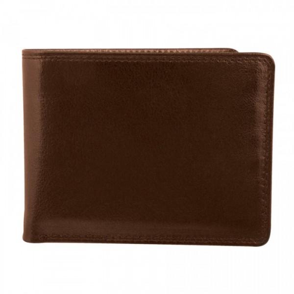 Men's Wallet - 9 Card Slots - BROWN