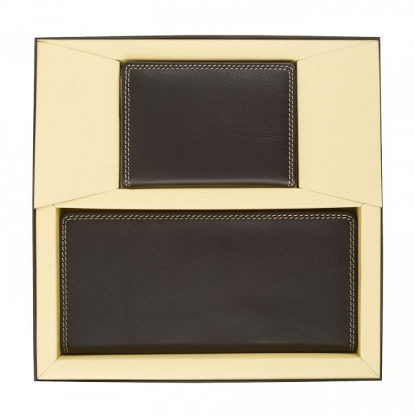 His & Hers 2 Piece Gift Set - BROWN